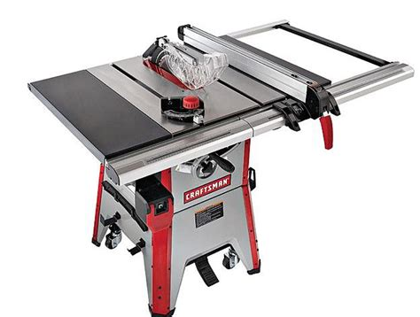 table saws reviews craftsman 10 inch contractor table saw review table saw