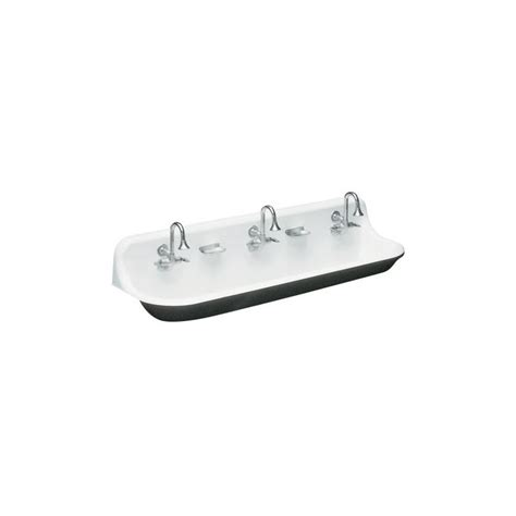 kohler brockway wash sink eclectic kitchen sinks by kohler k 3203 0 white brockway 5 wash sink with three