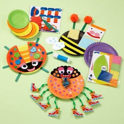 arts and crafts toys for arts and crafts toys paper plate bug craft play