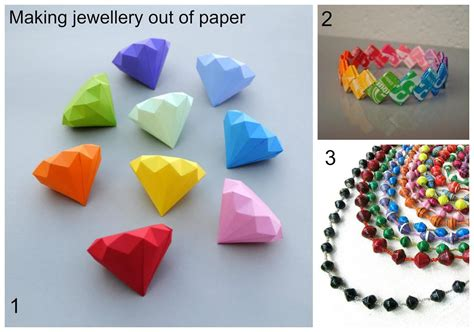 made out of paper summer jewellery part two using paper to