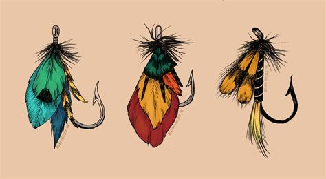 fly fishing lures flash by blindthistle on deviantart