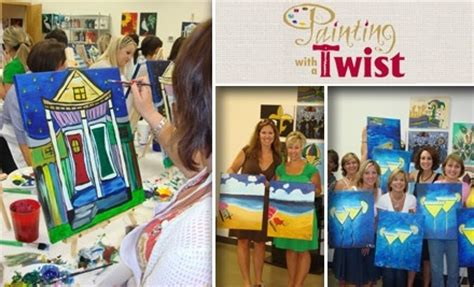paint with a twist groupon painting with a twist in woodlands groupon