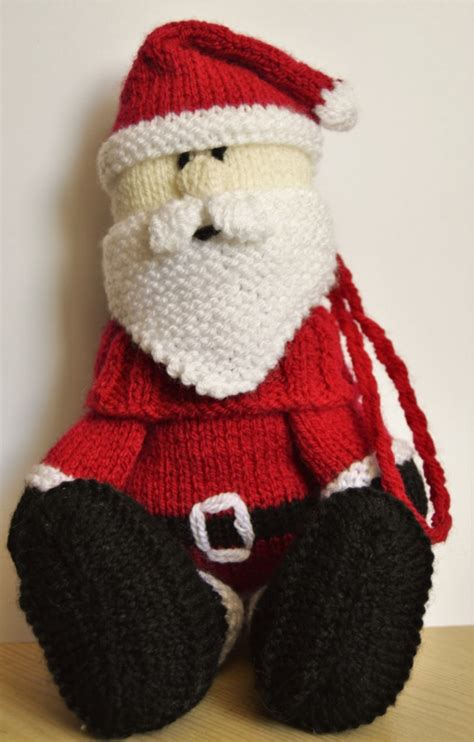 knitting store santa santa baggles gift bag knitting by post
