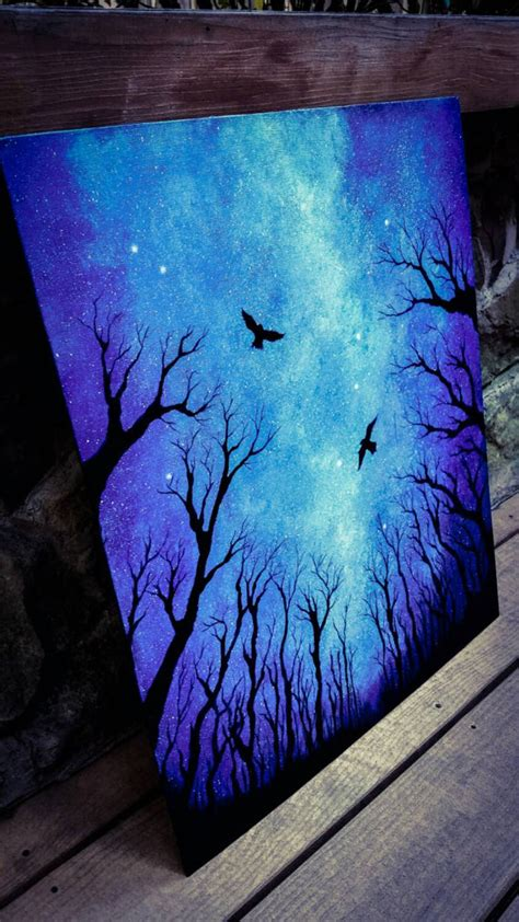 acrylic paint watercolor sky painting acrylic painting space by
