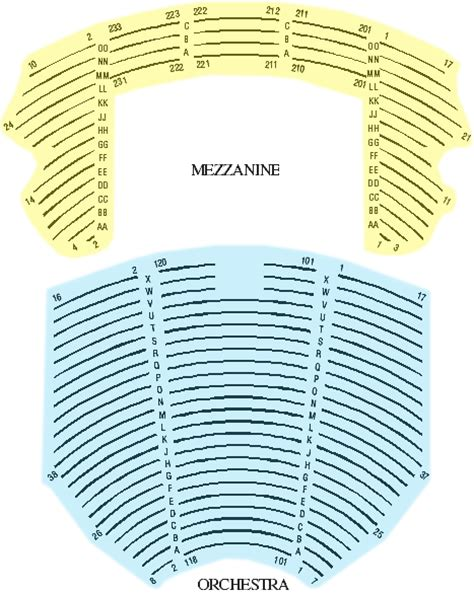 Cadillac Theater Seating by Cadillac Palace Theatre Seating Chart Cadillac Palace
