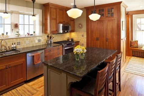 mission style kitchen island craftsman kitchen design what is typical for the craftsman style