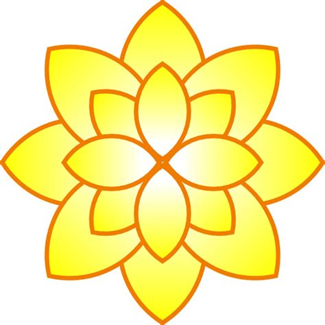 flower simple simple yellow flower clip at clker vector clip