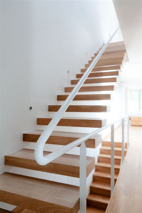 contemporary wooden house stairs home building