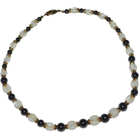 hematite bead necklace beautiful black hematite of pearl rice bead