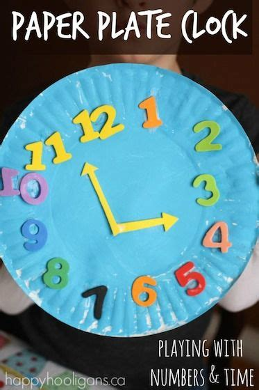 paper plate craft work 25 best ideas about clock craft on family