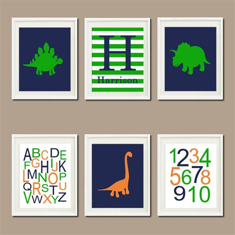 dinosaur nursery decor dinosaur nursery decor name monogram by lovelyfacedesigns