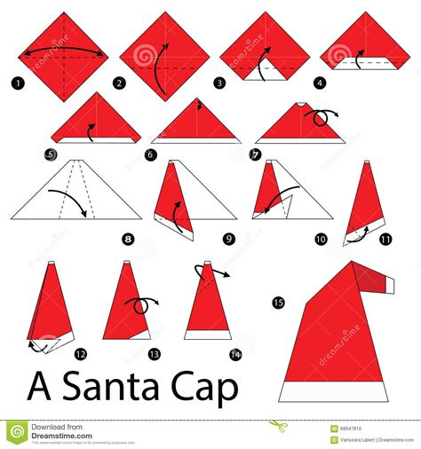 how to make a santa origami step by step how to make origami a santa cap