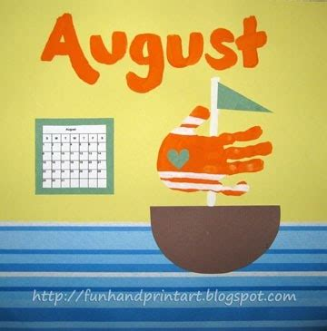 august crafts pin by donna elmore on handprint ideas