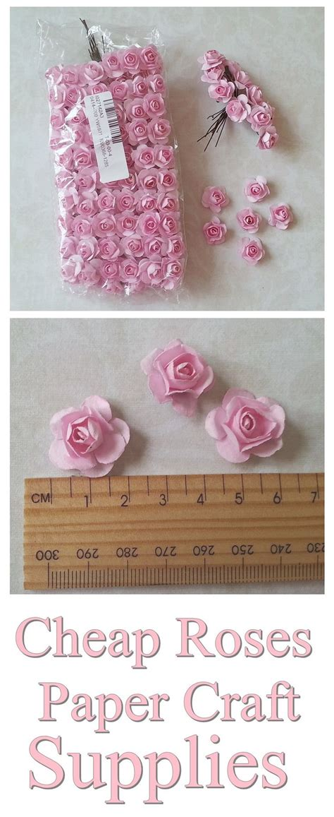 Cheap Paper Flowers Shabby Chic Roses Embellishment For