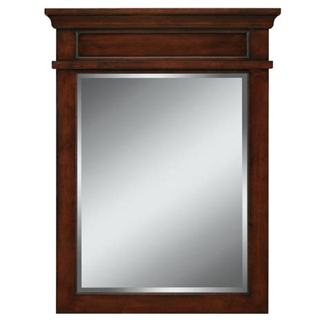lowes bathroom mirrors shop allen roth 34 in h x 26 in w mink