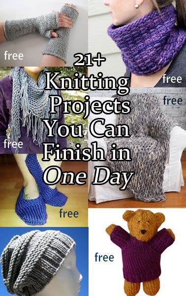 fast knitting one day knitting projects in the loop knitting