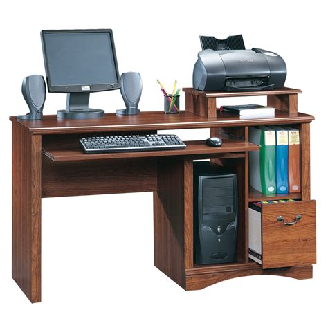 lowes computer desk shop sauder camden county planked cherry computer desk at
