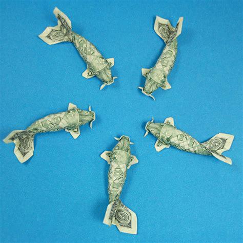 money fish origami sweet pleasure dollar origami