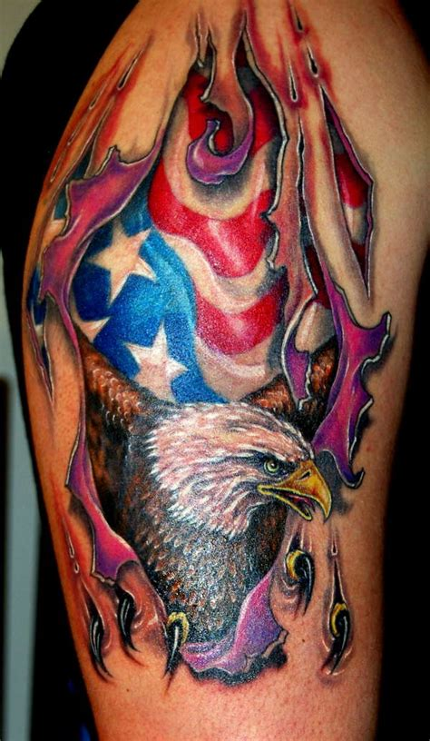 eagle ripping skin tattoo rate my ink pictures amp designs