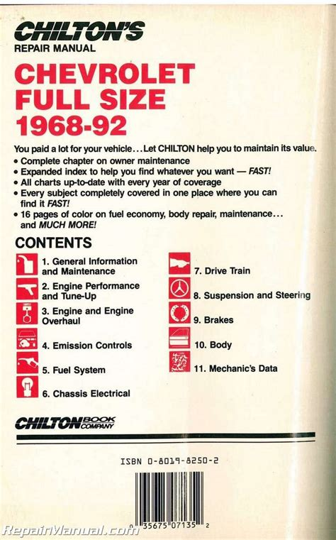 service manual chilton car manuals free download 1968 pontiac firebird windshield wipe control used chilton chevrolet full size cars 1968 1992 repair manual