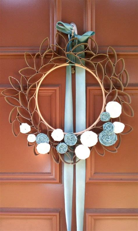 toilet paper roll wreath craft toilet paper wreath crafts