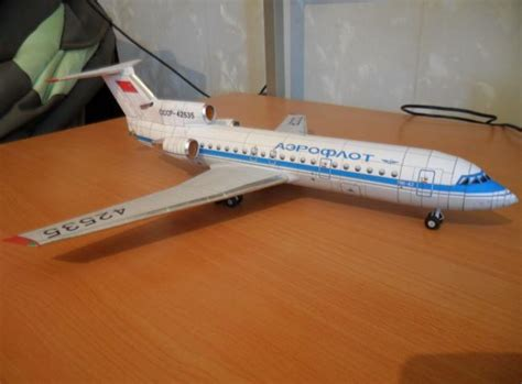 paper craft aeroplane yakovlev yak 42d free airplane paper model