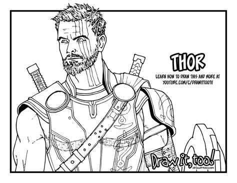 how to color in how to draw thor thor ragnarok drawing tutorial draw
