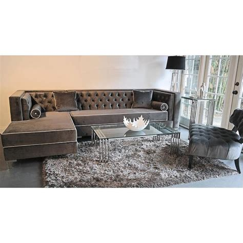 grey velvet tufted sofa decenni custom furniture tobias grey velvet tufted sofa