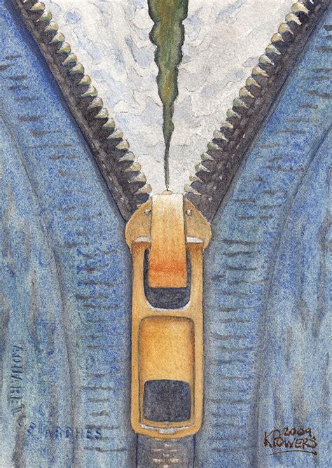 acrylic paint on zipper zipper painting by ken powers