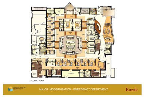 emergency room floor plan modern efficient functional yet simple hospital building