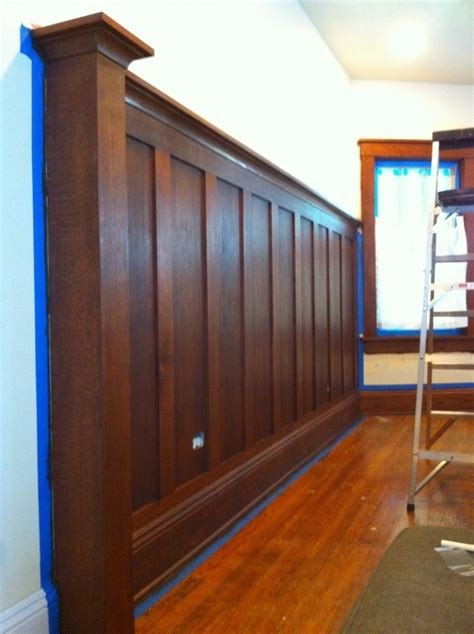panel cls woodwork general stained solid wood wainscoting craftsman bungalow
