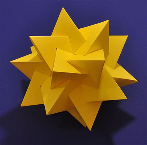 origami tetrahedron origami five intersecting tetrahedra dodecahedron images