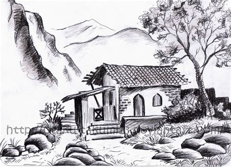 landscapes to draw pencil drawings landscape pencil drawings