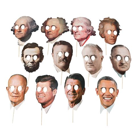 presidents day decorations american presidents masks set of 12 fancy