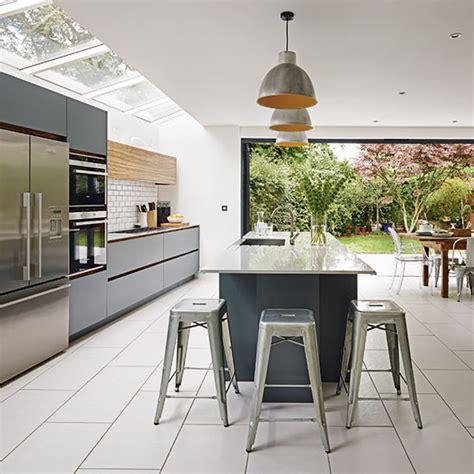 white grey kitchen grey and white kitchen kitchen ideas ideal home
