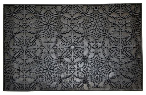 traditional rubber st kaleidoscope rubber mat traditional doormats by