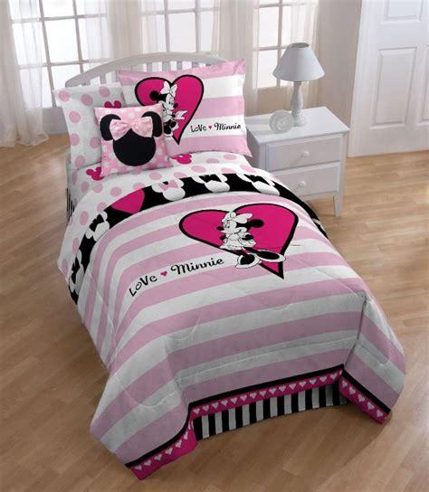 minnie mouse comforter set for toddler bed disney minnie mouse bedding set home design garden