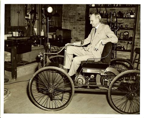 Henry Ford Cars by Henry Ford With An 1896 Ford Quadricycle The