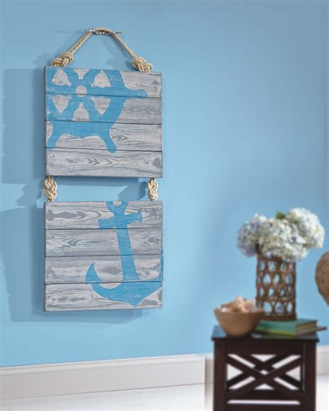 nautical craft projects nifty nautical pallet wall favecrafts