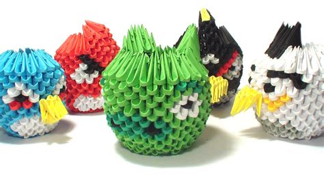 origami angry birds 3d origami angry birds by girnelis