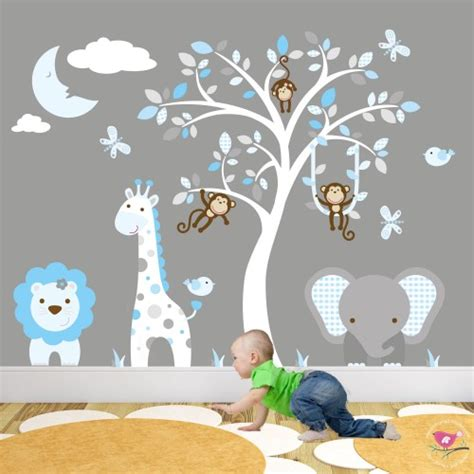 jungle stickers for walls jungle animal nursery wall stickers