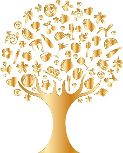gold and tree clipart gold abstract tree no background