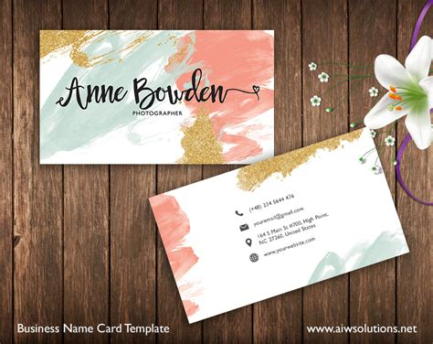 names for card business premade business card template name card template