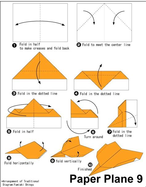 Origami Paper Plane 9 Easy Origami For