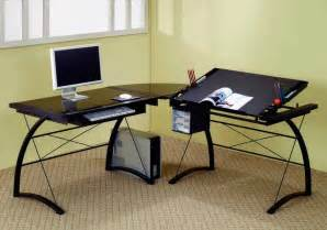 black l shaped computer desk black l shaped computer table contemporary desks and hutches new york by furniturenyc