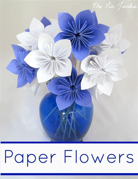 flower origami for paper origami flowers the pin junkie