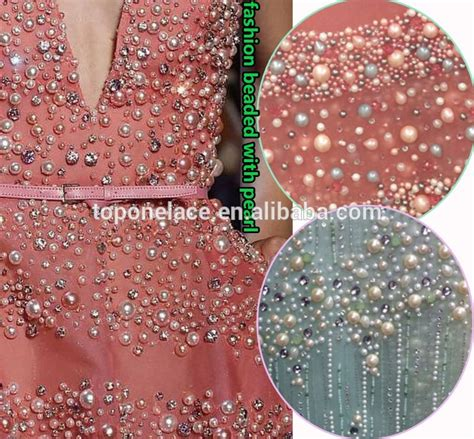 beaded fabric for dresses 2016 wholesale fashion lace material beaded