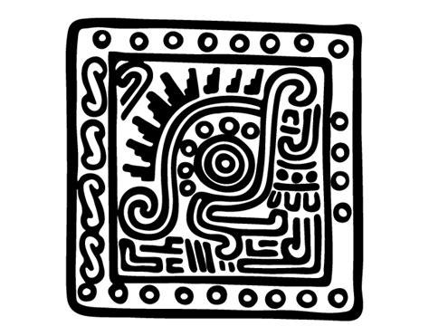 dibujo de s 237 mbolo maya para colorear dibujos net