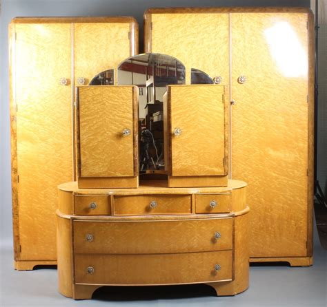 a 1950 s suite of birds eye maple bedroom furniture