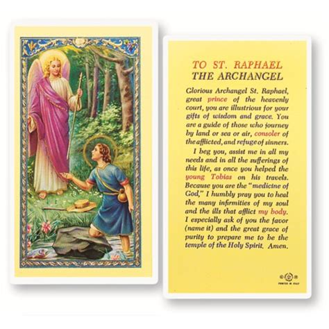 how to make a prayer card st raphael laminated prayer card the catholic company